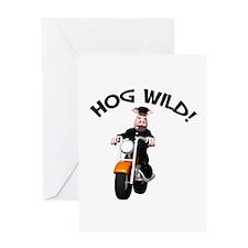 Hog Wild Road Hog Greeting Card