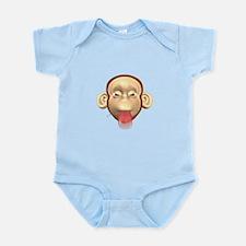 Monkey Sticking Out Tongue Infant Bodysuit