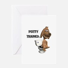 Potty Trained Puppy Dog Greeting Card