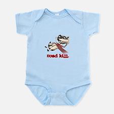 Funny Road Kill Racoon Infant Bodysuit
