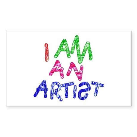 'I Am An Artist' Sticker (Rectangle)