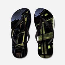 Haunted House Flip Flops
