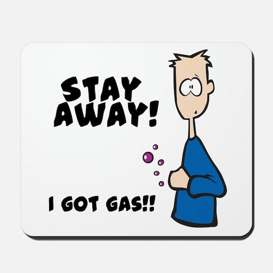 Stay Away I Got Gas Mousepad