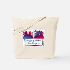 Singing Makes Me Happy (swirl) Tote Bag