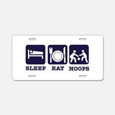 Sleep Eat Basketball Aluminum License Plate
