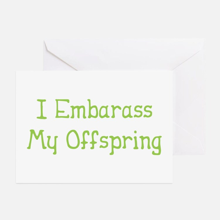 Embarass Offspring Greeting Cards (Pk of 10)