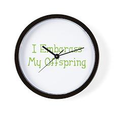 Embarass Offspring Wall Clock