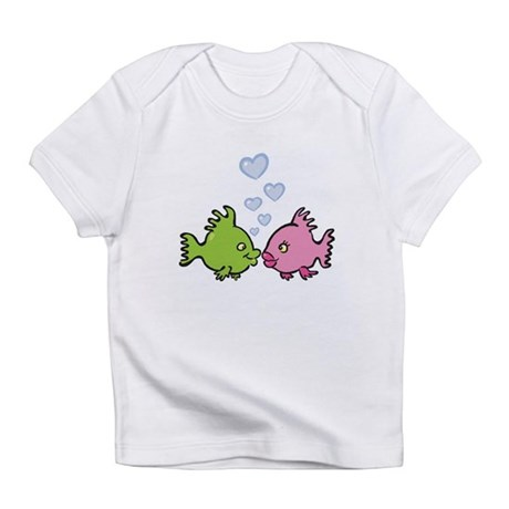 Kissy Love Fish Valentine Infant T-Shirt