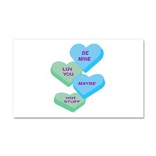Cute Valentine Candy Hearts D Car Magnet 20 x 12