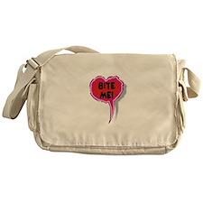 Bite Me Heart Speak Balloon Messenger Bag