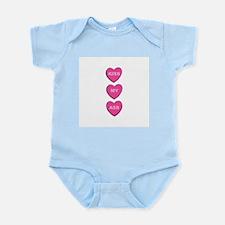 Kiss My Ass Candy Hearts Infant Bodysuit