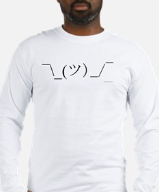 Shrug Emoticon Long Sleeve T-Shirt
