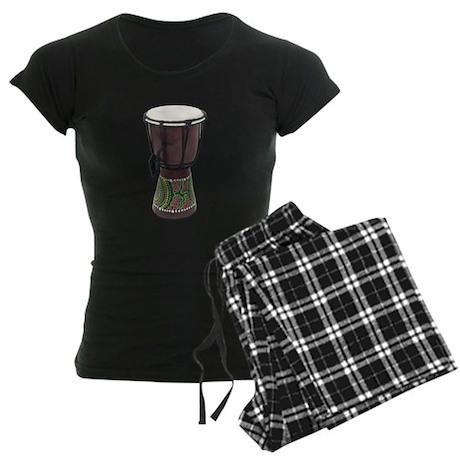 Tall_Djembe_Drum Women's Dark Pajamas