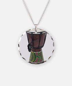 Tall_Djembe_Drum Necklace