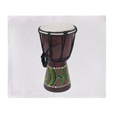 Tall_Djembe_Drum Throw Blanket
