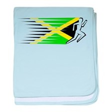 Athletics Runner - Jamaica baby blanket