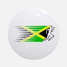 Athletics Runner - Jamaica Ornament (Round)