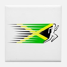 Athletics Runner - Jamaica Tile Coaster