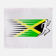 Athletics Runner - Jamaica Throw Blanket