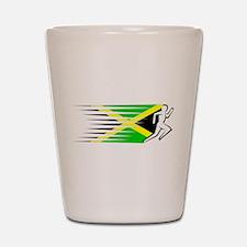 Athletics Runner - Jamaica Shot Glass