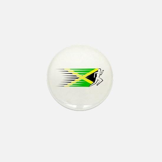 Athletics Runner - Jamaica Mini Button