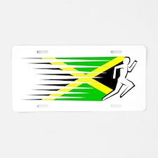 Athletics Runner - Jamaica Aluminum License Plate