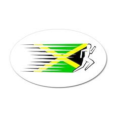 Athletics Runner - Jamaica 22x14 Oval Wall Peel