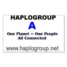Haplogroup A Rectangle Decal