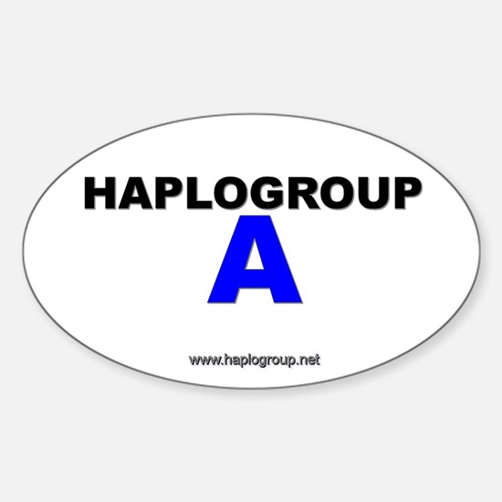 Haplogroup A Oval Decal
