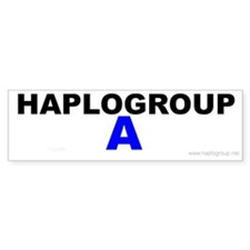 Haplogroup A Bumper Bumper Sticker