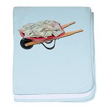 Wheelbarrow_Full_Of_Money baby blanket