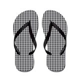 Black and white plaid flip flop Flip Flops