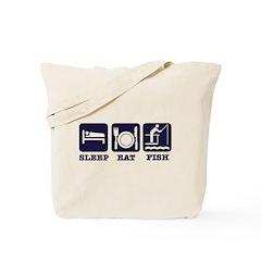 Sleep Eat Fishing Tote Bag