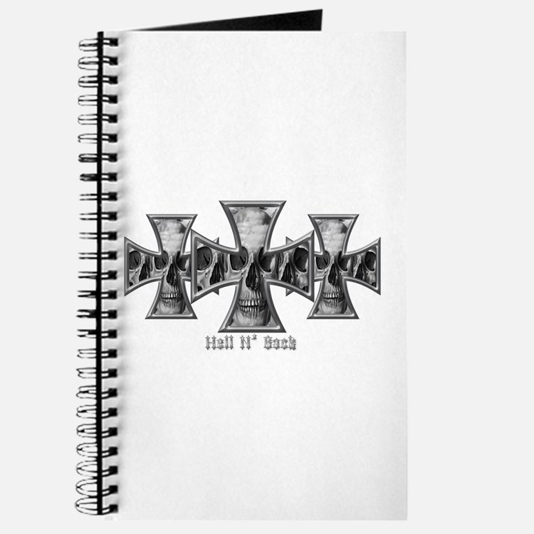 Hell N' Back Skulls Crosses Journal