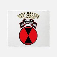SOF - Army Ranger - 2nd Company Throw Blanket