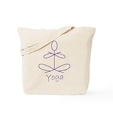 Yoga in Purple Tote Bag