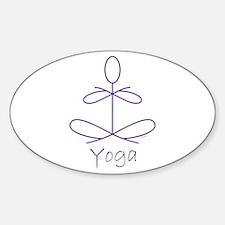 Yoga in Purple Sticker (Oval)