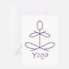 Yoga in Purple Greeting Card