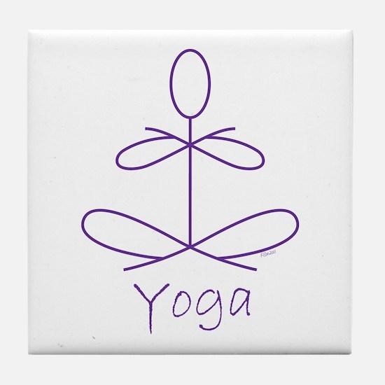 Yoga in Purple Tile Coaster