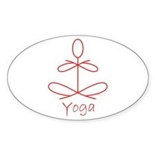 Yoga in Red Decal