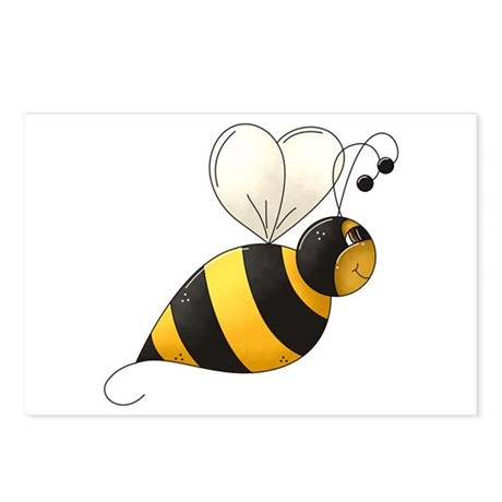 Whimsical Bumble Bee Postcards (Package of 8)