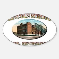 Lincoln School Sticker (Oval)