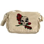 Rose Skull Messenger Bag