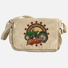 Still Plays with Tractors Green Messenger Bag