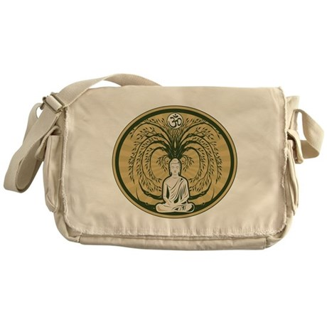 Buddha and the Bodhi Tree Messenger Bag