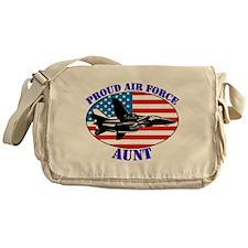 Proud Air Force Aunt Messenger Bag
