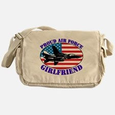 Cute Air force girlfriend Messenger Bag