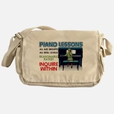 Piano Lessons Sign Messenger Bag
