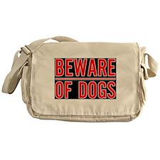 Beware of Dogs(Black) Messenger Bag