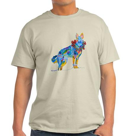 Christmas Holiday German Shepherd Light T-Shirt